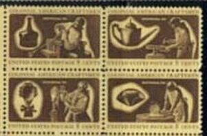 US Stamp #1456-9 MNH – Craftsmen – Se-Tenant Block of 4
