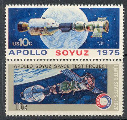 US Stamp #1569-70 MNH – Apollo Soyuz – Se-Tenant Pair
