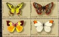 US Stamp #1712-1715 MNH – Butterflies – Se-Tenant Block of 4