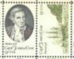 US Stamp #1732-3 MNH – Captain Cook and his Ship – Se-Tenant Pair