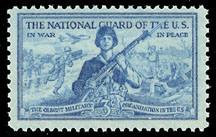 US Stamp #1017 MNH National Guard Single