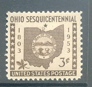 US Stamp #1018 Mint Ohio Statehood Single
