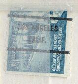 US Stamp #1031Ax71 Gov.Palace w/ Los Angeles Calif Precancel