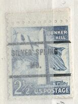 US Stamp #1034×71 Bunker Hill w/ Silver Springs MD Precancel