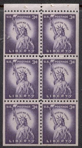 US Stamp #1035a MNH – Statue of Liberty Booklet Pane