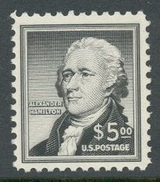 US Stamp #1053 – FANTASTIC – Alexander Hamilton $5.00 Single
