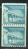 US Stamp #1054A MNH – Palace of Governors – Coil Pair