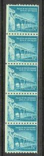 US Stamp #1054A MNH – Palace of Governors – Strip of 5