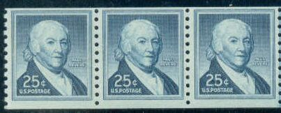 US Stamp #1059A MNH – Paul Revere Coil Strip/3 w/ Shiny Gum