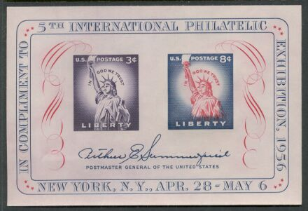 US Stamp #1075 – GREAT FIPEX Souvenir Sheet