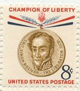 US Stamp #1111 MNH Champion of Liberty – Bolivar Plate Block / 4