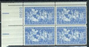 US Stamp #1123 MNH – Fort Duquesne – Plate Block of 4