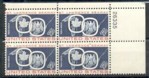 US Stamp #1131 MNH – St Lawrence Seaway – Plate Block of 4
