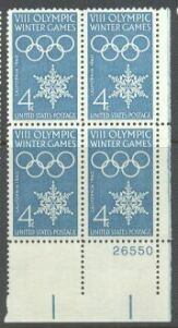 US Stamp #1146 MNH – Olympics – Plate Block of 4