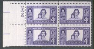 US Stamp #1152 MNH – American Woman – Plate Block of 4