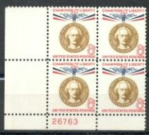 US Stamp #1160 MNH – Champion of Liberty – Plate Block / 4