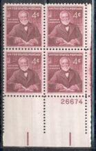 US Stamp #1171 MNH – Carnegie – Plate Block of 4