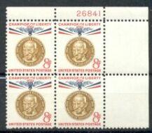 US Stamp #1175 MNH – Champion of Liberty – Plate Block / 4