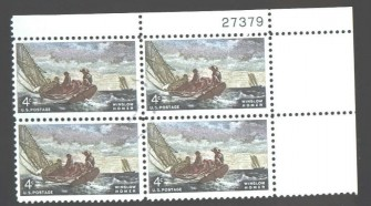 US Stamp #1207 MNH – Winslow Homer – Plate Block of 4