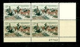 US Stamp #1243 MNH – Charles Russell – Plate Block of 4