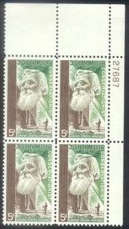 US Stamp #1245 MNH – Muir – Plate Block of 4