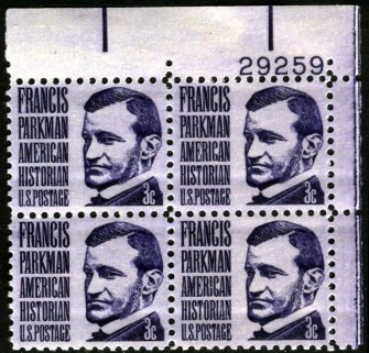 US Stamp #1281 MNH – Parkman – Plate Block of 4
