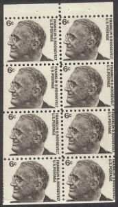 US Stamp #1284b MNH – Franklin D. Roosevelt Booklet Pane