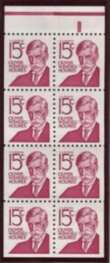 US Stamp #1288Bc MNH – Oliver Wendell Holmes Booklet Pane