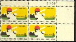 US Stamp #1381 MNH – Baseball – Plate Block of 4