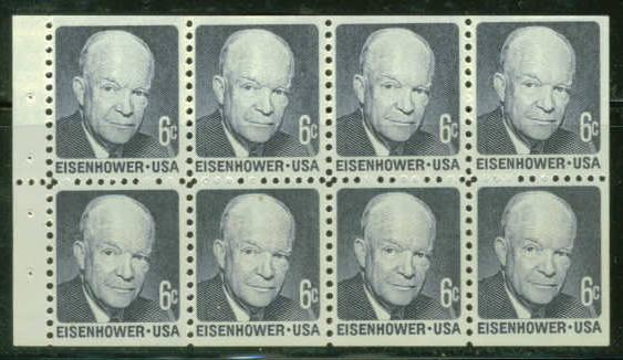 US Stamp #1393a MNH – Dwight Eisenhower Booklet Pane