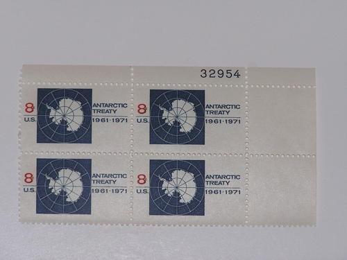 US Stamp #1431 MNH – Antarctic Treaty – Plate Block of 4
