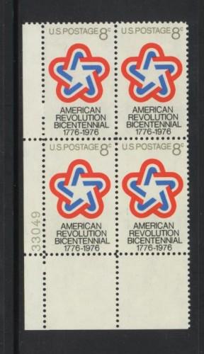 US Stamp #1432 MNH – Bicentennial – Plate Block of 4