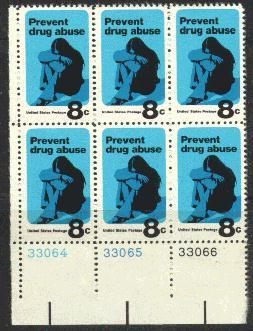 US Stamp #1438 MNH – Prevent Drug Abuse – Plate Block of 6