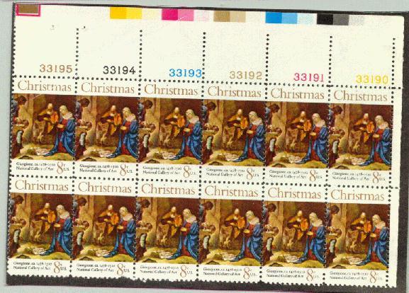 US Stamp #1444 MNH Christmas Nativity Plate Block 12