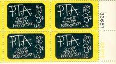 US Stamp #1463 MNH – Parent Teacher Association Plate Blk /4
