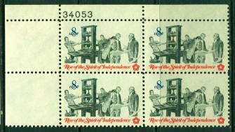 US Stamp #1476 MNH – Printing – Plate Block of 4