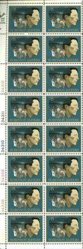US Stamp #1485 MNH Robinson Jeffers Plate/ZIP/ME Block 16