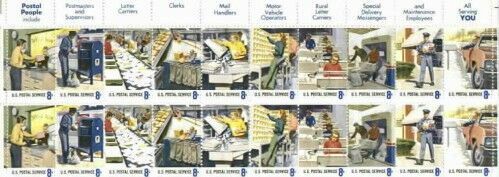 US Stamp #1489-1498 MNH Postal People Plate Block 20