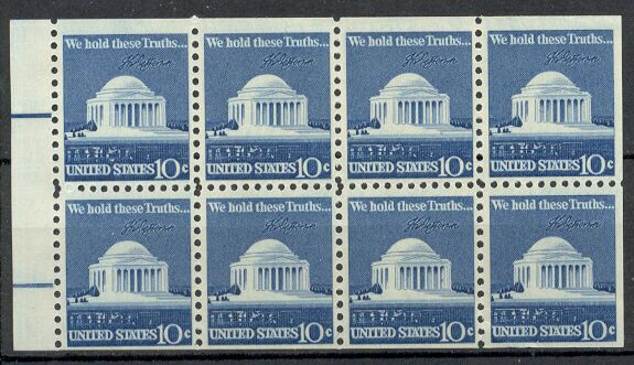 US Stamp #1510c MNH – Jefferson Memorial Booklet Pane