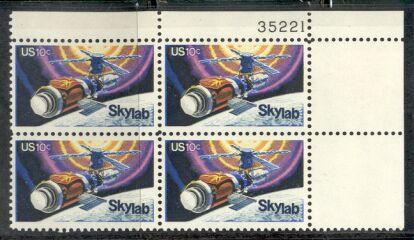 US Stamp #1529 MNH – Skylab – Plate Block of 4