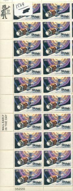 US Stamp #1529 MNH SKYLAB Plate/ZIP/ME Block 20