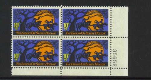 US Stamp #1548 MNH – Legend of Sleepy Hollow Plate Block / 4