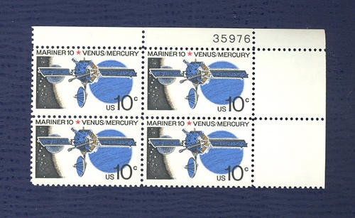 US Stamp #1557 MNH – Mariner 10 Mission – Plate Block of 4