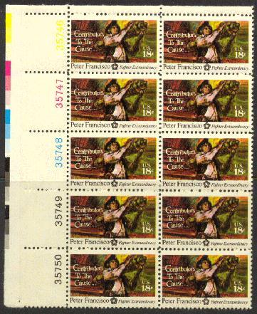 US Stamp #1562 MNH Peter Fransisco Plate Block 10