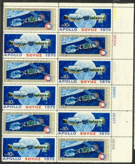 US Stamp #1569-70 MNH – Apollo/Soyuz Plate Block of 12