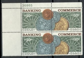 US Stamp #1577-8 MNH Banking & Commerce Plate Block of 4