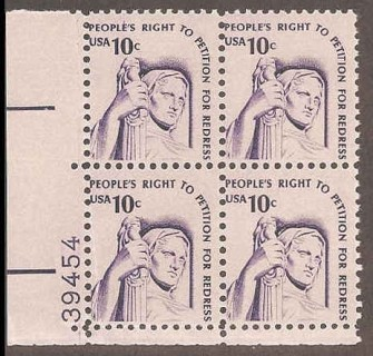 US Stamp #1592 MNH – Justice – Plate Block of 4