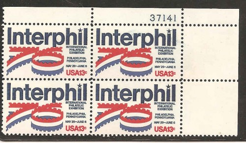 US Stamp #1632 MNH – InterPhil '76 – Plate Block of 4