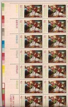 US Stamp #1701 MNH Christmas Nativity Plate / ZIP / ME Block / 20