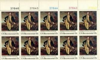 US Stamp #1704 MNH Washington @ Princeton Plate Block / 10